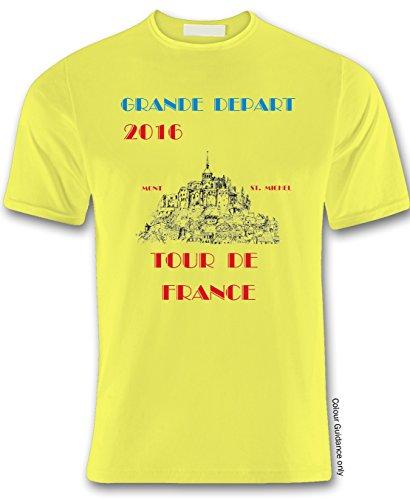 360 girocollo shirt gialla Cycling uomo da T rqBwrtxR