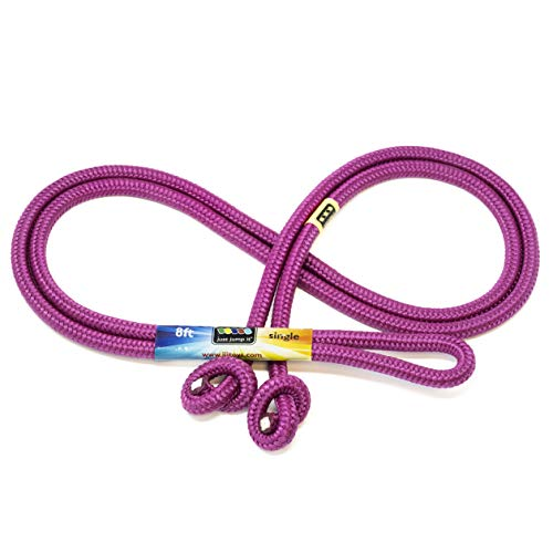Just Jump It 8 Foot Single Jump Rope - Active Outdoor Youth Fitness - Raspberry