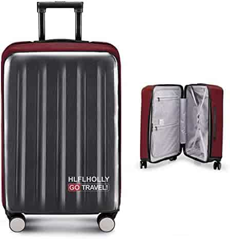 Removing-Free Travel Luggage Cover Suitcase Protector Fits 20-30 Inch  Luggage (Elastic e72a578ca1