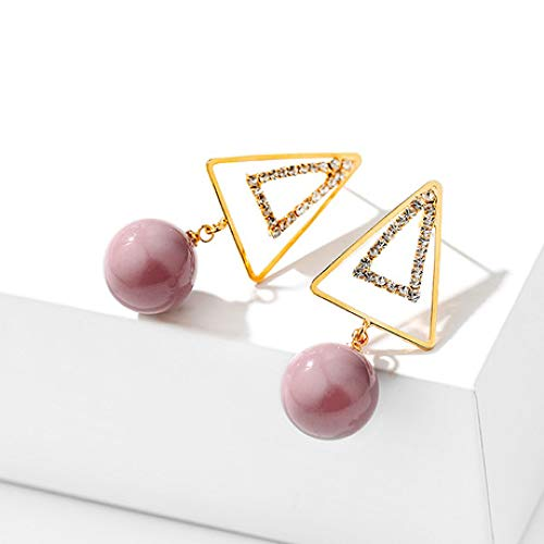 Maerye S925 Silver Simple Triangle Inlay Pearl Pendant Fashion Lady