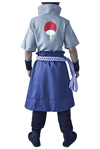 DAZCOS US Size Anime Uchiha Sasuke Cosplay Costume with Wristbands Rope (Men M)