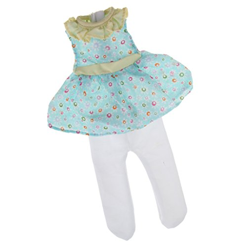 Fashion Dress 14' Set (MonkeyJack Dolls Floral Dress and Leggings Set For 14'' American Girl Doll Dolly Outfits Clothes)