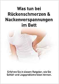 r ckenschmerzen und verspannungen im bett german edition libero michael bazzotti. Black Bedroom Furniture Sets. Home Design Ideas