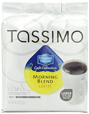 Maxwell House Cafe Collection Morning Blend, 14-Count T-Discs for Tassimo Brewers , Package May Vary