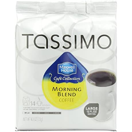 Maxwell House Morning Blend Coffee Mild Roast T Discs For Tassimo Brewing Machines 14 Count Pack Of 5