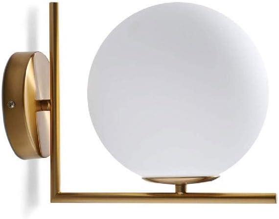 Metal lámpara de Pared de Cristal, Dormitorio de Noche Moderna Pasillo Escalera Sala de Estar colgados de la Pared Espejo de baño Faros: Amazon.es: Hogar