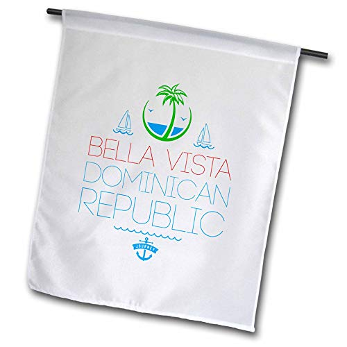 3dRose Alexis Design - Cities Dominican Republic - Bella Vista, Dominican Republic City. Summer Journey - 12 x 18 inch Garden Flag (fl_312470_1) (Outdoor Vista Bella Furniture)