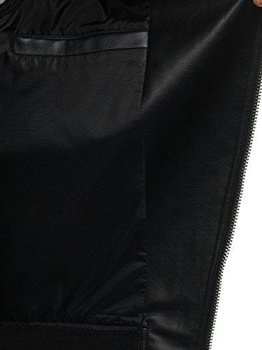 Mezza – Giacca Stile 4d4 Con sw2295 Uomo Stagione Da Quotidiano Ecopelle Bolf Patch Nero THZx4