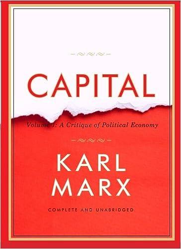 Das Kapital Capital Volume 1 A Critique Of Political Economy