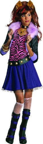 Monster High Clawdeen Wolf Costume - One Color - (2017 Halloween Costumes For Tweens)