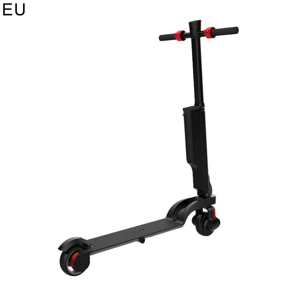 Waroomss Scooter eléctrica Plegable/Patinete Asiento Motor 24V/200W Frenos (Pantalla LCD, 25km/h, batería Larga duración, música Bluetooth, Banco de alimentación con USB) 25km/h batería Larga duración
