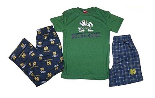 Amazon.com: Notre Dame Youth Shorts, T-shirt & Lounge Pants 3-piece Set (X-large (18-20)): Clothing