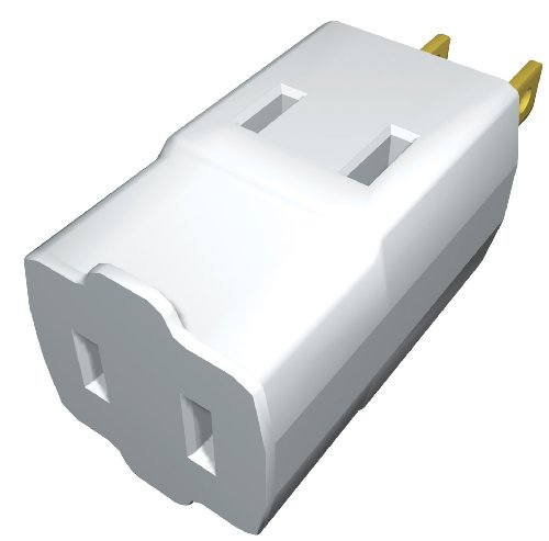 Stanley 30376 Triple Cube Tap, Polarized 3-Outlet Adapter, White