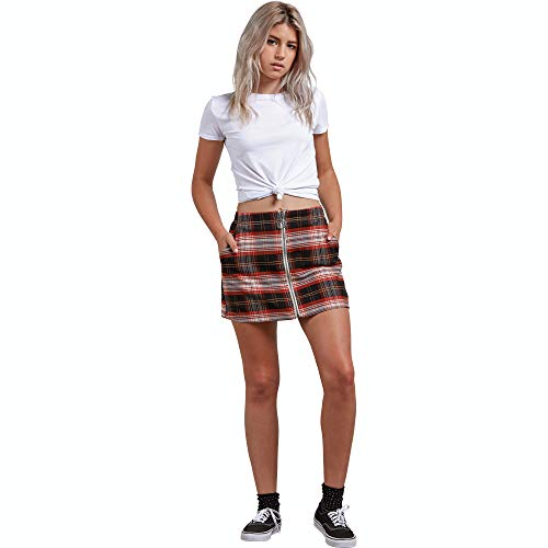 Volcom Junior's Frochickie Classic Plaid Mini Skirt