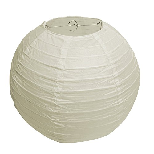 40cm Round LED Ball Chinese Paper Lanterns Light Lamps Wedding Party Garden Decor