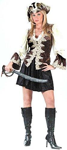 Fun World Women's Royal Lady Pirate Costume, Multi, Medium/Large