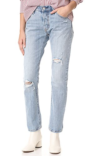 Levis 501 Denim Blue Jeans - 5