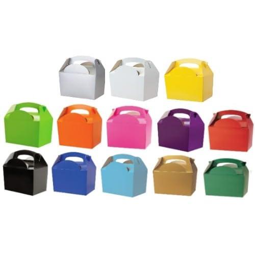 10boîtes en carton uni pour repas Fête ou anniversaire pour enfant/pour enfant–Taille: 152mm x 100mm x 102mm