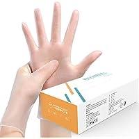 Disposable Gloves sanitizing Gloves Protective Gloves,Translucent Powder Free Reinforced Medium Box/100