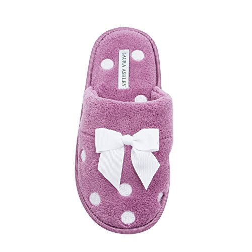 Embroidered Laura Misty Terry Ladies Soft Ashley Slipper Mauve Scuff PxExqCAwF
