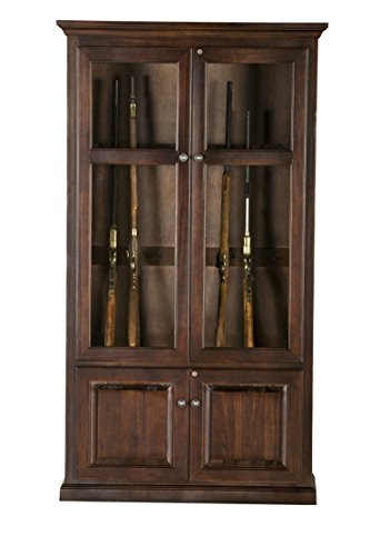 Eagle Savannah 15 Gun Cabinet, Caribbean Rum Finish