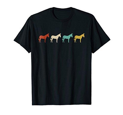 Vintage Retro Donkey Shirt Mule Animal Gift