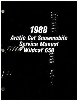 Book 2254-454 1988 Arctic Cat Wildcat 650 Snowmobile Service Manual