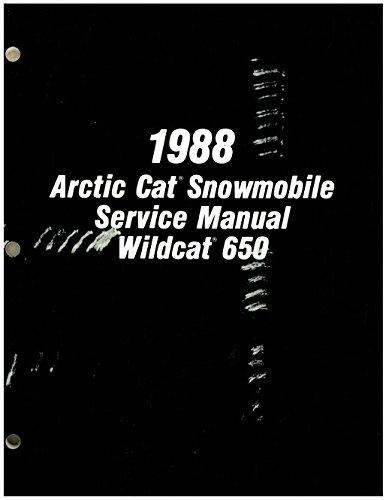 2254-454 1988 Arctic Cat Wildcat 650 Snowmobile Service Manual ebook