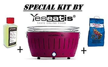 LOTUSGRILL XL NEW KIT by YESEATIS 2017 - Barbacoa de sobremesa XL + Kit ignición Carbón