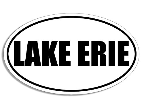 B/W OVAL Lake Erie Sticker (great niagra canada ontario - Erie In Stores