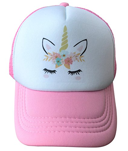 Unicorn Trucker Hat for Kids Girls - Unicorn Gifts (Small (3-9 Years), - Trucker Hat Girls
