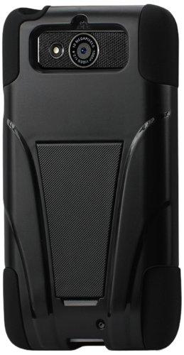 Reiko Motorola MOT1030BK Droid Mini Hybrid Heavy Duty Case with Kickstand - Black