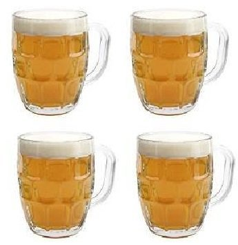 British Pub Imperial Pint Dimple Glass. Set of - Glasses English