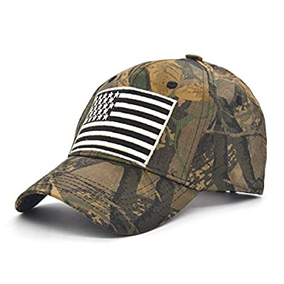 yeyimei Baseball Cap Low Profile American USA Flag Hat Adjustable Camo Mesh Unisex Caps