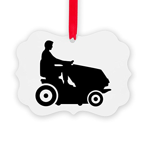 (CafePress Lawn Mower Driver Christmas Ornament, Decorative Tree Ornament)