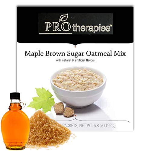 (High Protein Oatmeal, Gluten Free Low Carb, Maple Brown Sugar Oats (15g Protein) - 6 Servings/Pack)