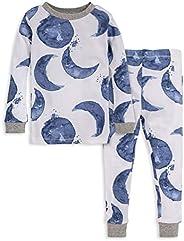 Burt's Bees Baby Baby Girls' Pajamas, Tee and Pant 2-Piece Pj Set, 100% Organi