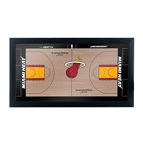 Trademark Gameroom Miami Heat Official NBA Court Framed Plaque