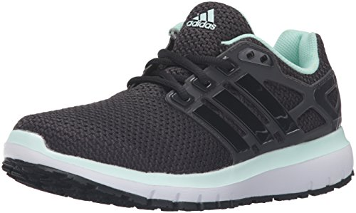 adidas Performance Women's Energy Cloud Wtc W Running Shoe, Utility Black Black/Ice Green Fabric, 9.5 M US
