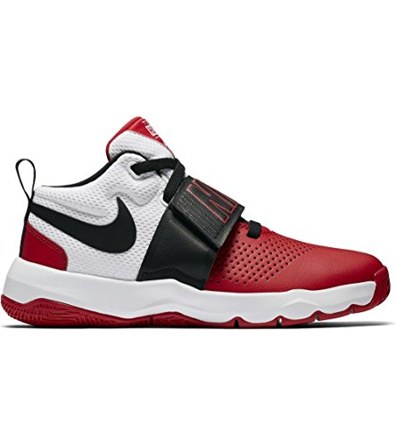 buy online 9a033 59397 NIKE Kids Team Hustle D 8 (GS) University RED Black White Size 3.5 by