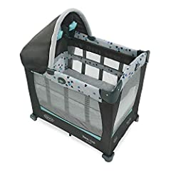With 3 growing stages, the Graco Travel Lite Crib with Stages is specially designed to grow with your baby from newborn to young toddler! Each stage provides a safe, cozy, yet portable spot for baby to sleep by your side. Plus, the Travel Lit...