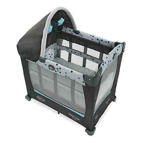 Graco Travel Lite Crib | Travel Crib Converts from Bassinet to Playard, Lauren