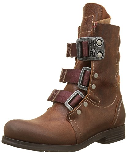 Marrone Stif Donna London Combat Stivali Fly Brown H41qp4