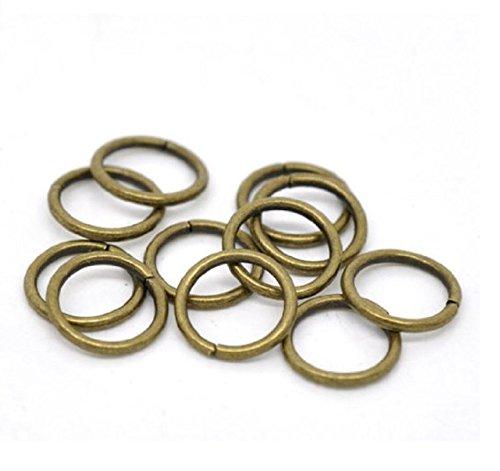 50pcs Top Quality 12mm Jump Ring (~22GA wire) Antique Bronze Finish CF167-12 (Finish Bronze California)