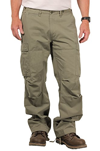 The Field Men's Utility Cargo Pant, Washed Loden, Size 34x34