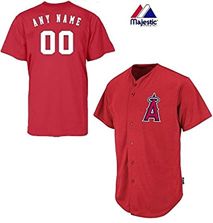 Anaheim Los Angeles Angels Full-Button CUSTOMIZED (Any Name   Number on Back 3f20dc5e0