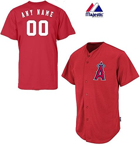 Anaheim/Los Angeles Angels Full-Button CUSTOMIZED (Any Name & Number on Back) Major League Baseball Cool-Base Replica MLB - Mlb Jerseys Majestic Replica Custom