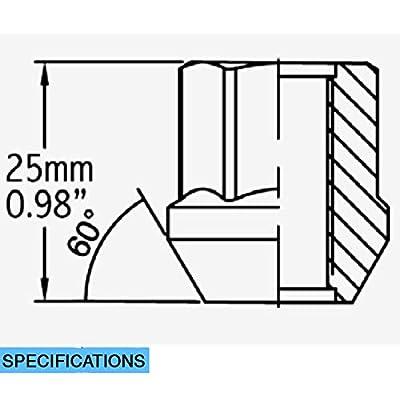 Wheel Accessories Parts Install Kit - OE Car Spline - M12 1.5 (5 Lug)(Lugs Only): Automotive