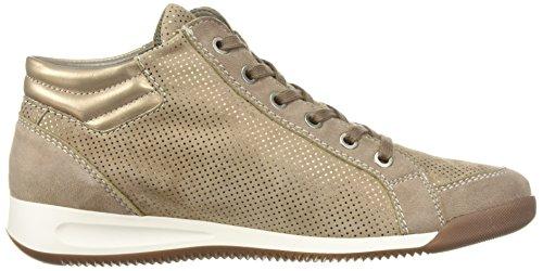 ara Women's Rylee Sneaker, Black Crinkle Patent/Metallic, 6 B(M) US Taupe Puntikid