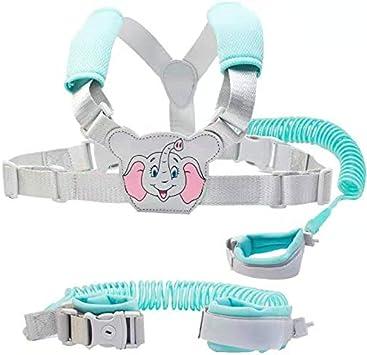 1.5m,Blue01 Children Harness Belt Adjustable 1.5M,Baby Toddler Reins Safety Strap Leash Walking Hand Belt Elastic Wire Rope Fluorescent 1SourceTek Baby Anti Lost Safety Wrist Link Backpack Belt